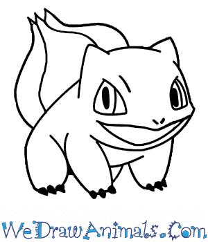 300x350 How To Draw Bulbasaur Pokemon