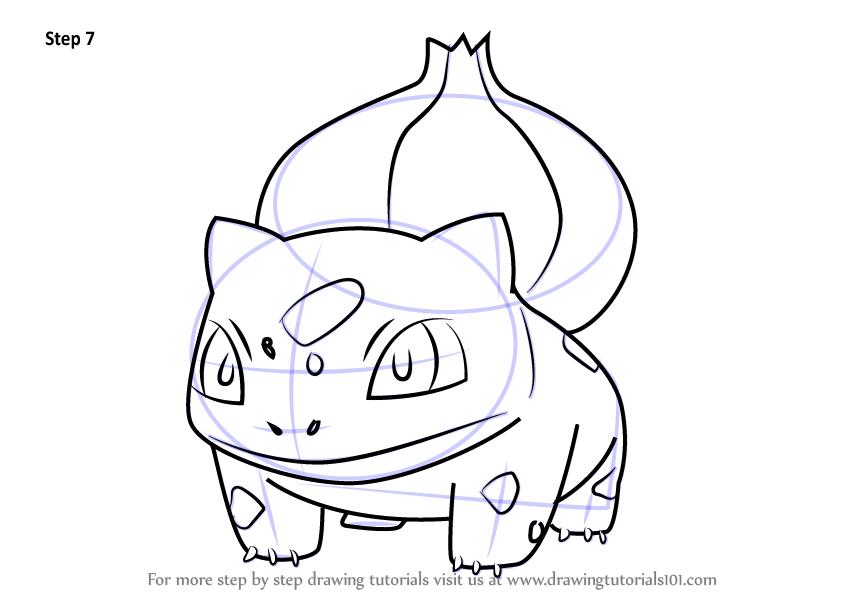 844x598 Learn How To Draw Bulbasaur From Pokemon Go (Pokemon Go) Step By