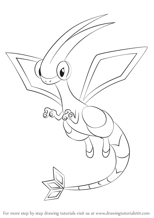 598x844 Learn How To Draw Flygon From Pokemon (Pokemon) Step By Step