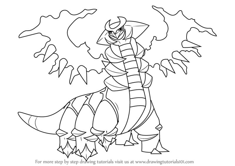 800x566 Learn How To Draw Giratina From Pokemon (Pokemon) Step By Step