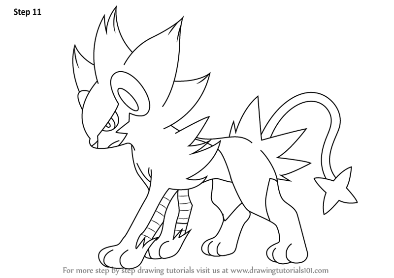 800x566 Learn How To Draw Luxray From Pokemon (Pokemon) Step By Step
