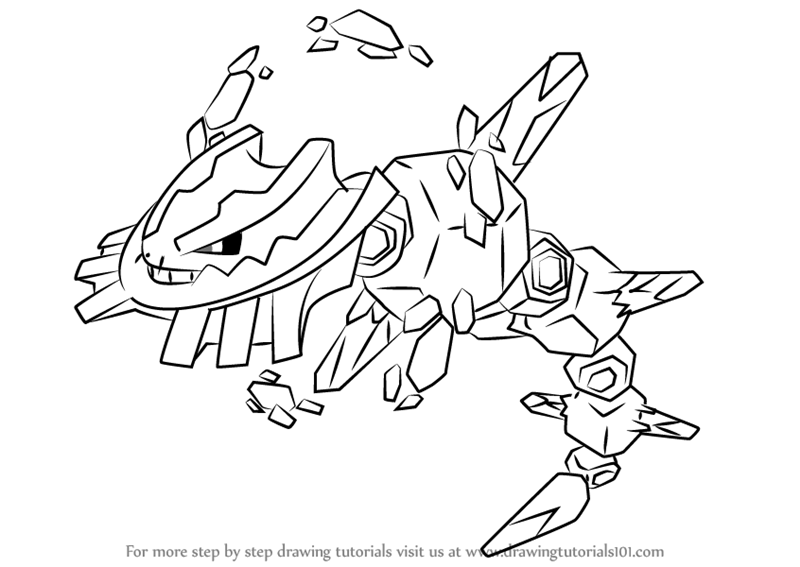 800x567 Learn How To Draw Mega Steelix From Pokemon (Pokemon) Step By Step