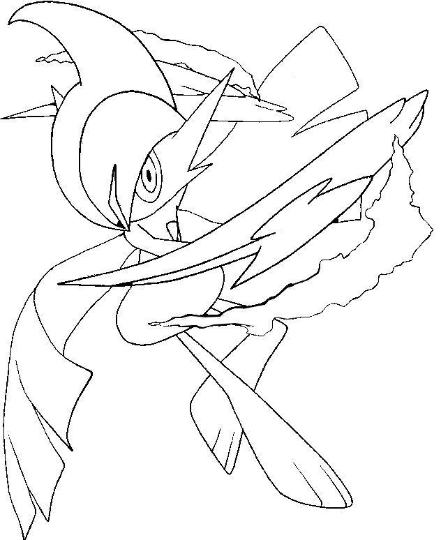 632x774 Mega Garchomp Coloring Page