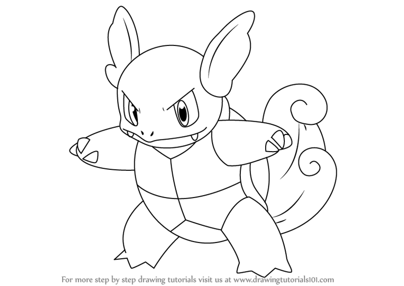 800x566 Learn How To Draw Wartortle From Pokemon (Pokemon) Step By Step