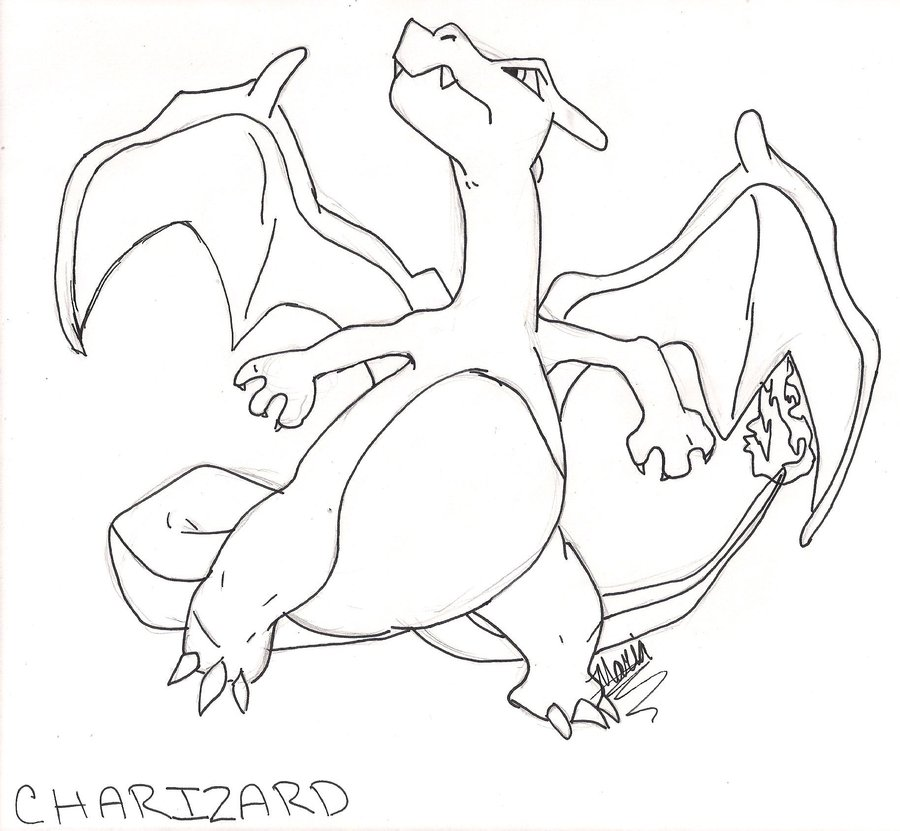 Pokemon Charizard Drawing at GetDrawings.com | Free for personal use ...