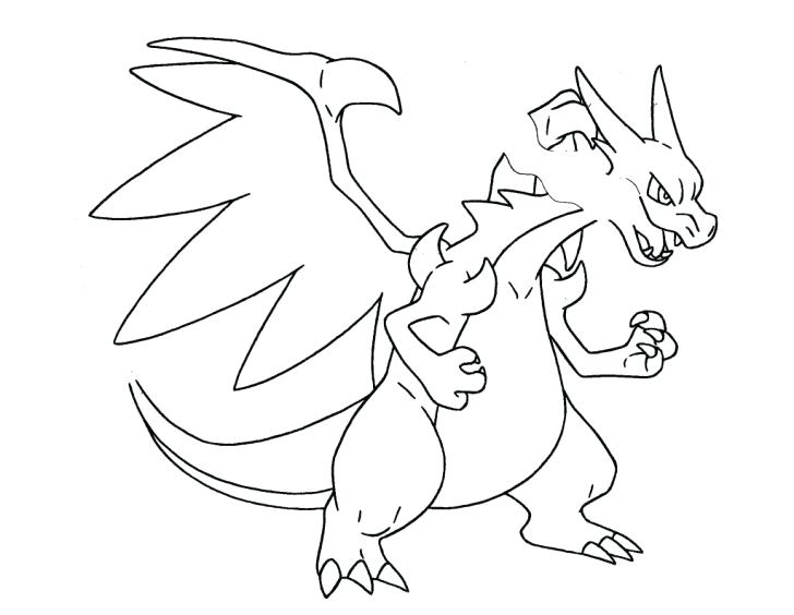 728x564 How To Draw A Coloring Page Charizard Y Pages Murs