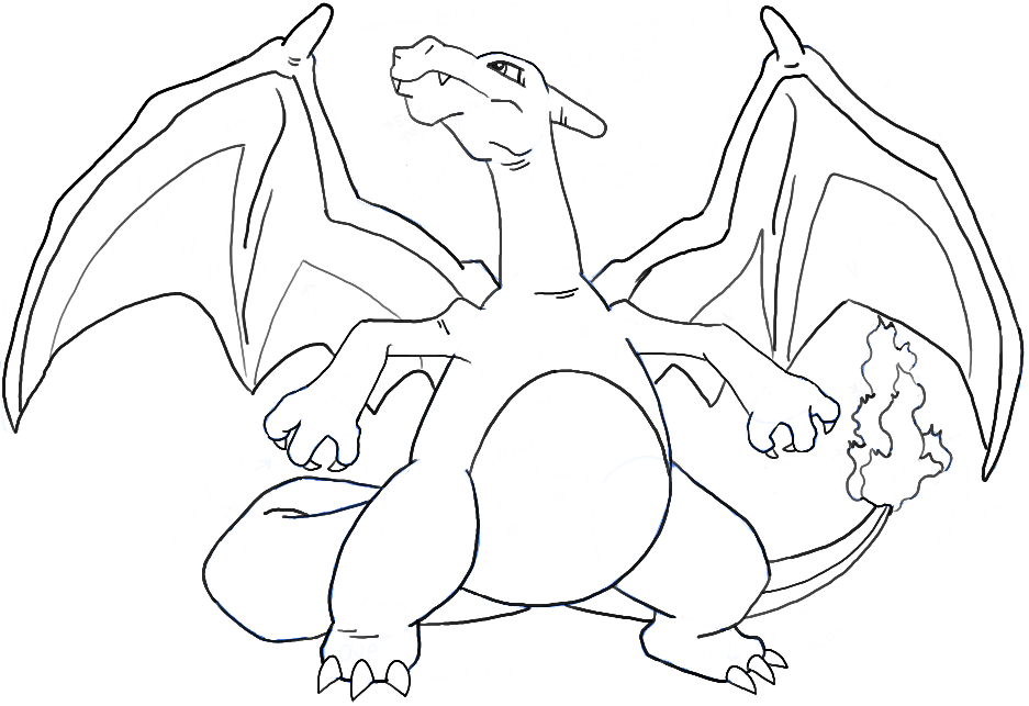 937x643 How To Draw Charizard From Pokemon With Easy Steps Pikachu