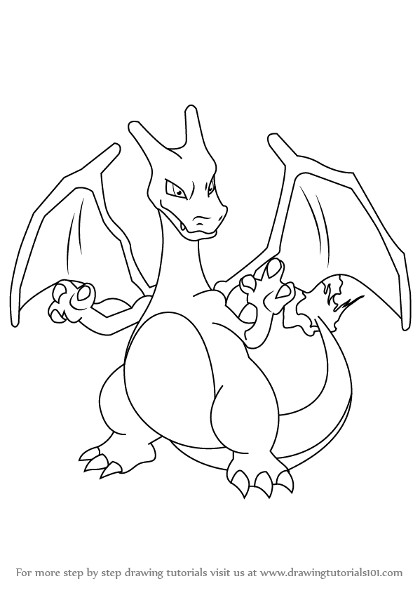 599x845 Learn How To Draw Charizard From Pokemon (Pokemon) Step By Step