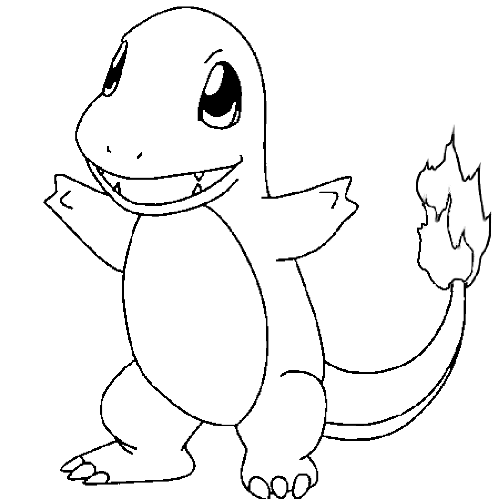 1000x1000 Pokemon Charmander Pokemon Coloring Pages Pokemon
