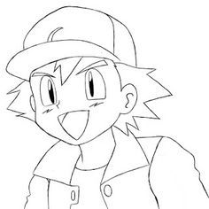 236x236 How to Draw Ash Ketchum from Pokemon Step by Step Drawing Lesson