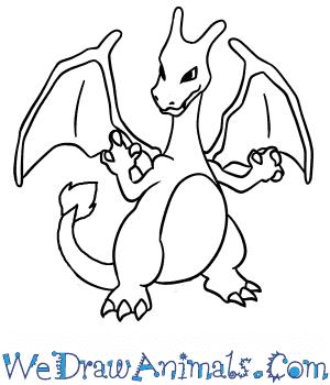 300x350 How to Draw Charizard Pokemon