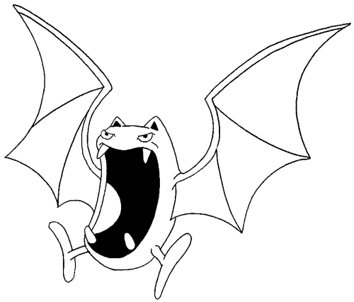 500x426 How to Draw Golbat from Pokemon with Step by Step Drawing Tutorial