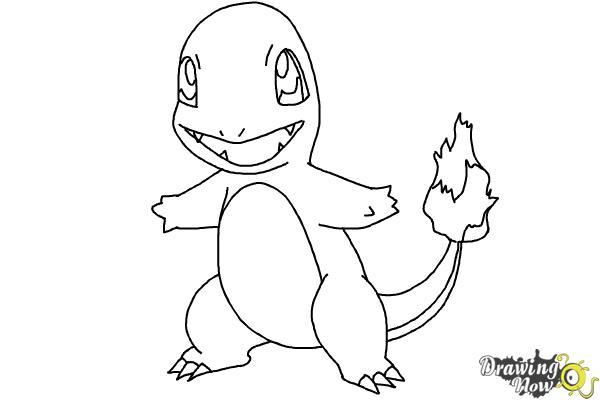 600x400 How to Draw Pokemon Charmander