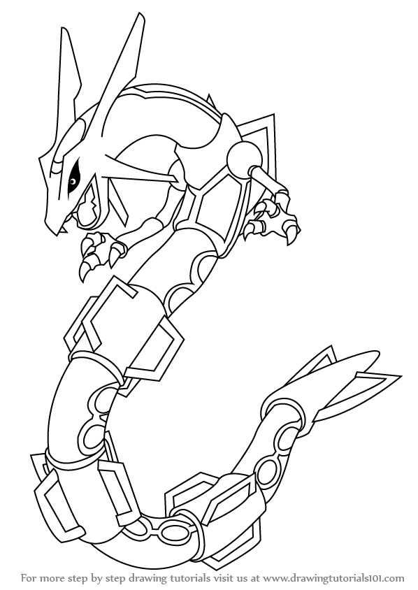 598x844 How to Draw Rayquaza from Pokemon