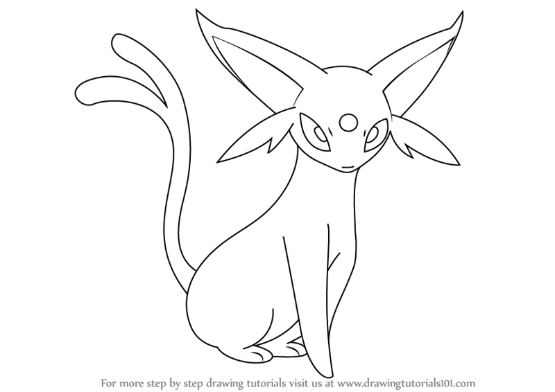 800x566 Learn How to Draw Espeon from Pokemon (Pokemon) Step by Step