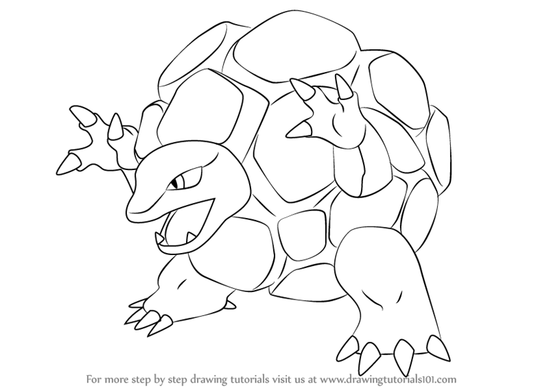 800x566 Learn How to Draw Golem from Pokemon (Pokemon) Step by Step