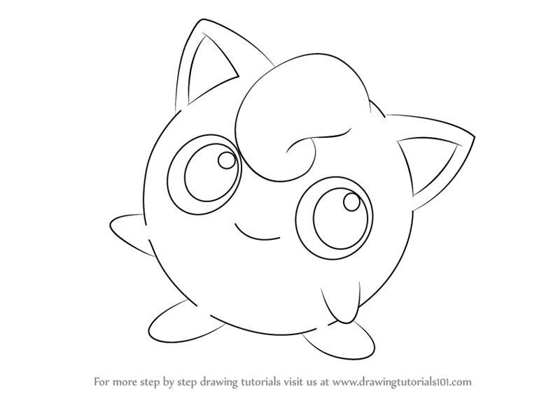 800x566 Learn How to Draw Jigglypuff from Pokemon (Pokemon) Step by Step
