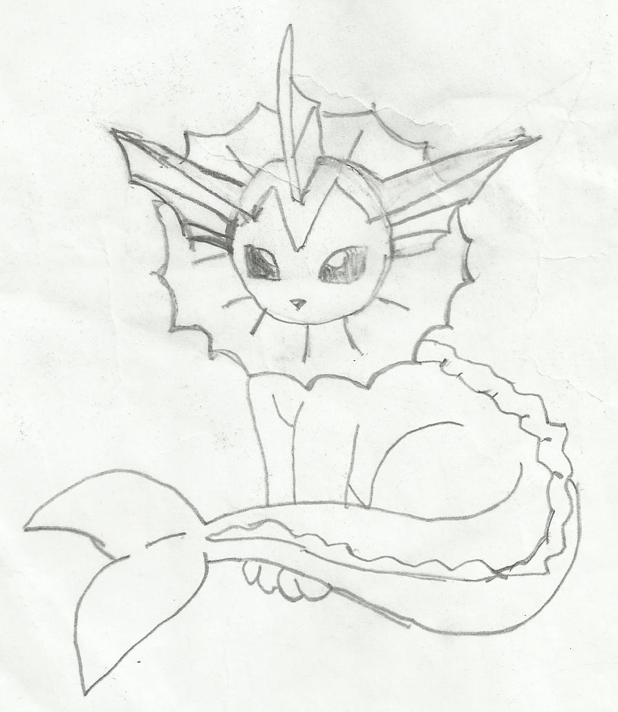 894x1030 Pokemon Drawing Of Vaporeon By Thecupcaketurtle