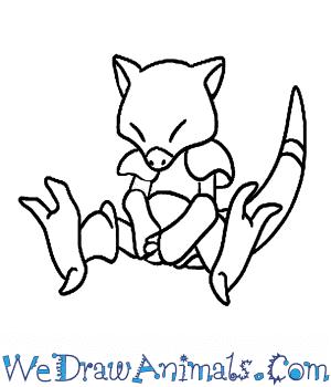 300x350 How to Draw Abra Pokemon