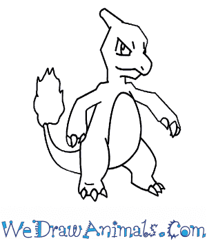 300x350 How To Draw Charmeleon Pokemon