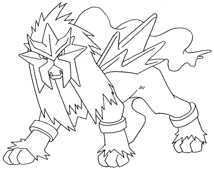 700x553 How To Draw Entei From Pokemon With Easy Step By Step Drawing