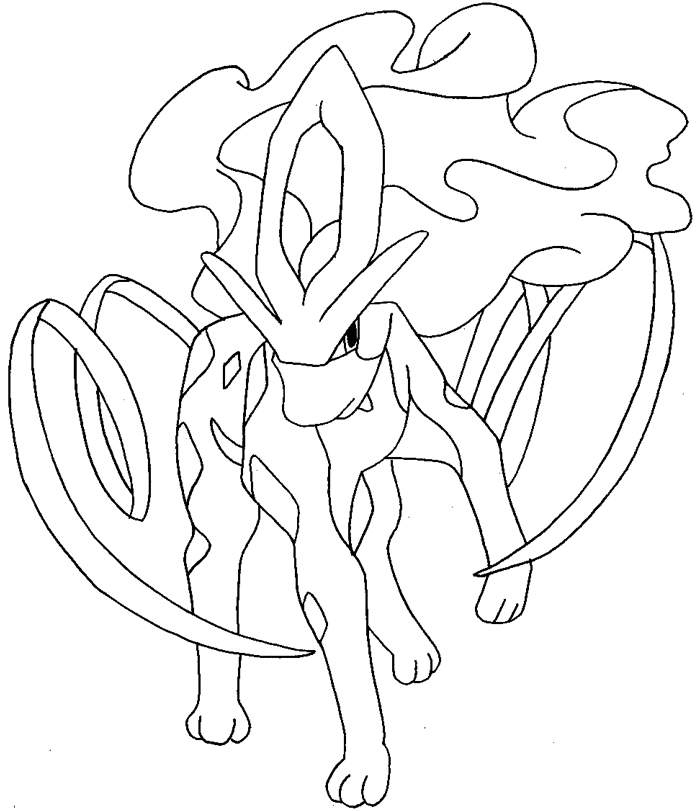 700x811 How To Draw Suicune From Pokemon With Easy Step By Step Drawing