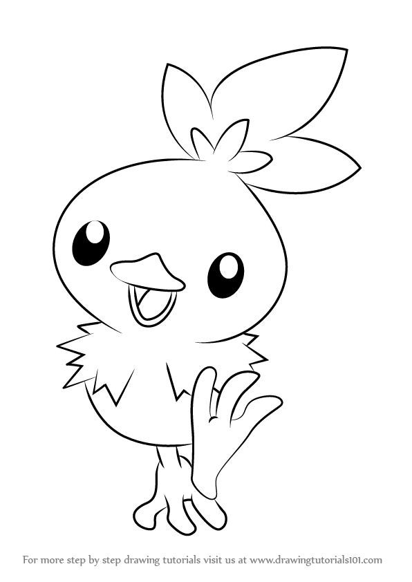 596x842 Learn How To Draw Torchic From Pokemon (Pokemon) Step By Step