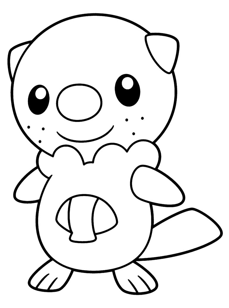 770x1038 Oshawott Pokemon Coloring Pages Oshawott For Xe Media Coloring