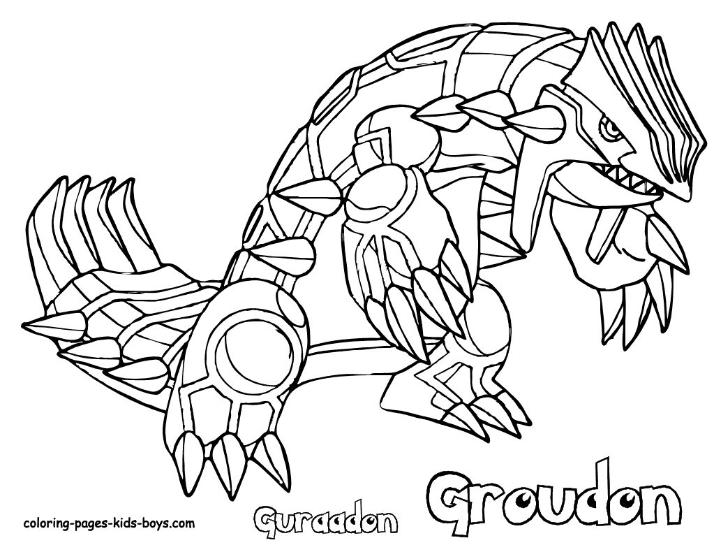 Pokemon Groudon Ausmalbilder : Pokemon Drawing Game At Getdrawings Com Free For Personal Use
