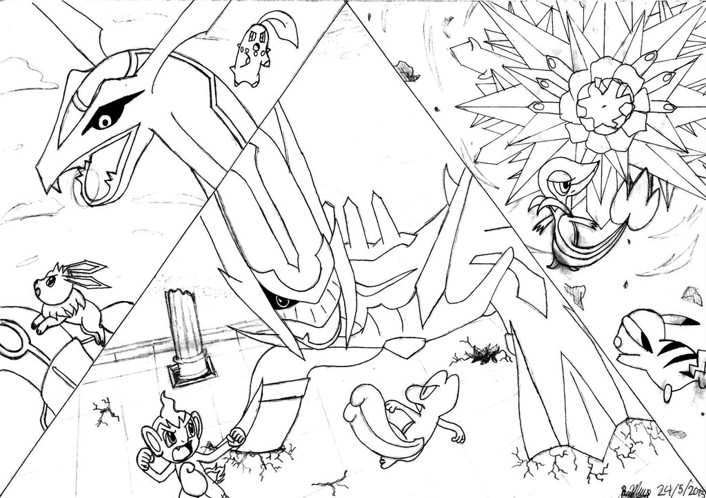 1024x723 Pokemon Mystery Dungeonfinal Boss Battles Lineart By Masked Gamer