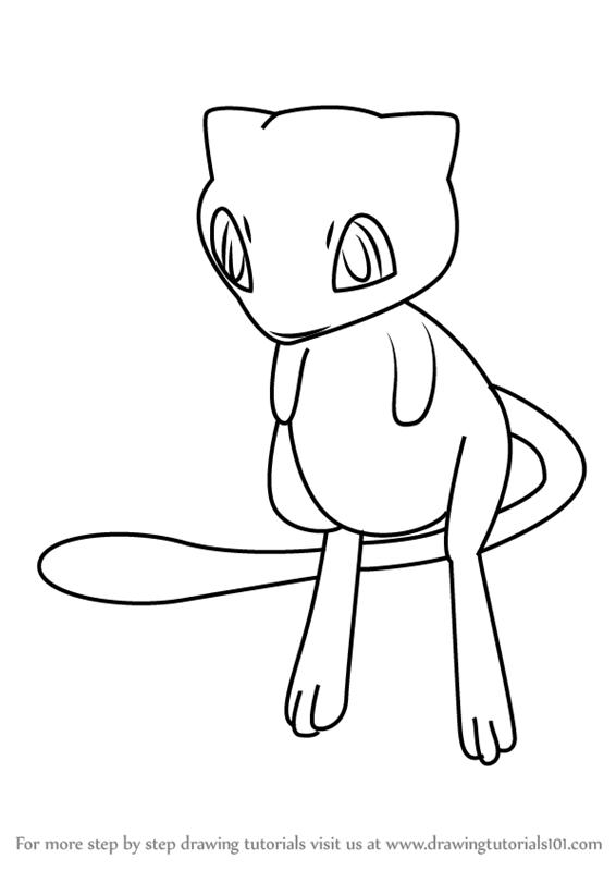 566x800 Learn How To Draw Mew From Pokemon Go (Pokemon Go) Step By Step