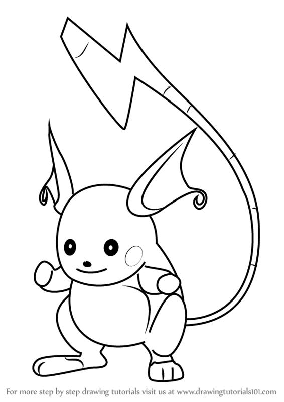 566x800 Learn How To Draw Raichu From Pokemon Go (Pokemon Go) Step By Step