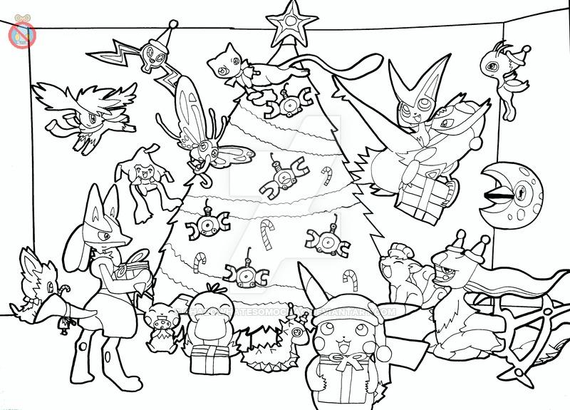 800x575 Pokemon Christmas Lineart By Shadowhatesomochao