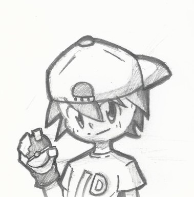 379x384 Male Pokemon Trainer Sketch By Setsthrush