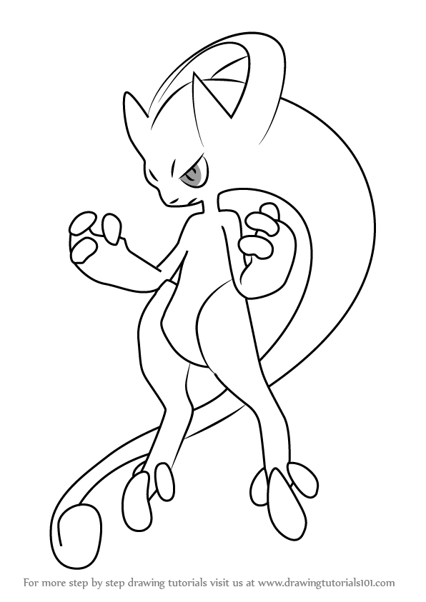 Mega mewtwo y pokemon coloring pages ~ Pokemon Drawing Mew at GetDrawings.com | Free for personal ...