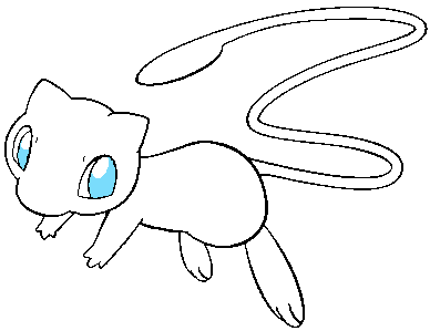 388x299 Mew Lineart By Niji25 On Lineart Pokemon (Detailed