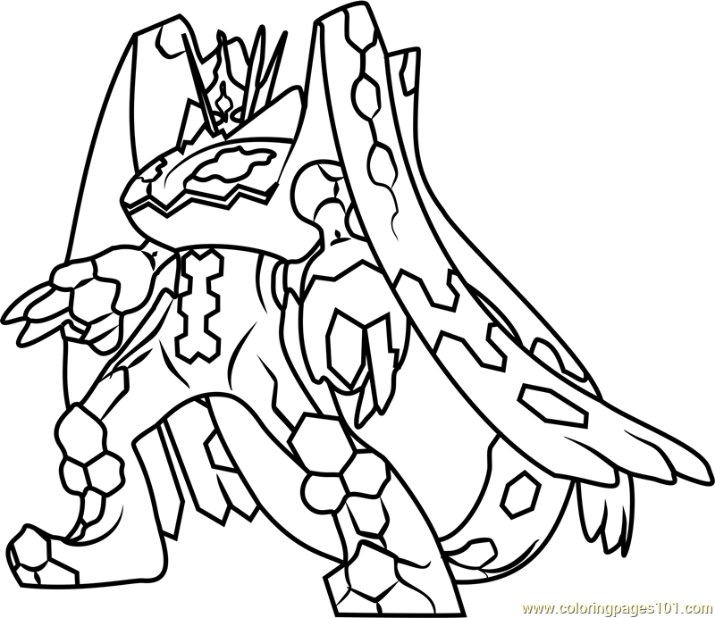 800x692 zygarde complete forme pokemon sun and moon coloring page