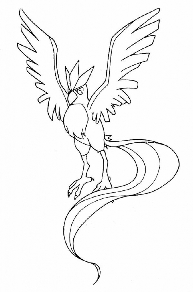 676x1024 Kids Drawing Of Pokemon Articuno Colouring Page Happy Colouring