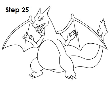 388x300 How To Draw Charizard