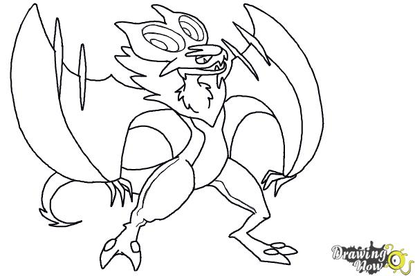 600x400 How To Draw Noivern From Pokemon X And Y