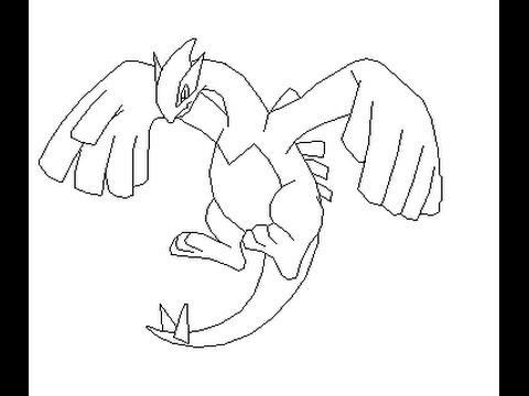 480x360 How To Draw Lugia