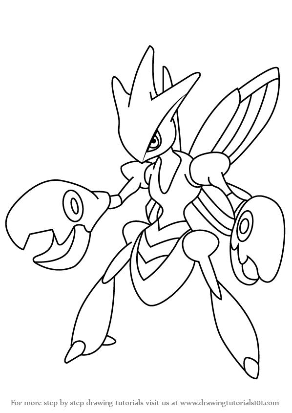 598x845 Learn How To Draw Scizor From Pokemon (Pokemon) Step By Step