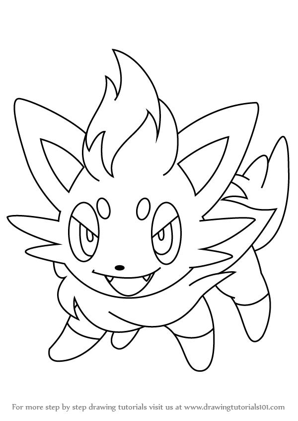600x846 Learn How To Draw Zorua From Pokemon (Pokemon) Step By Step