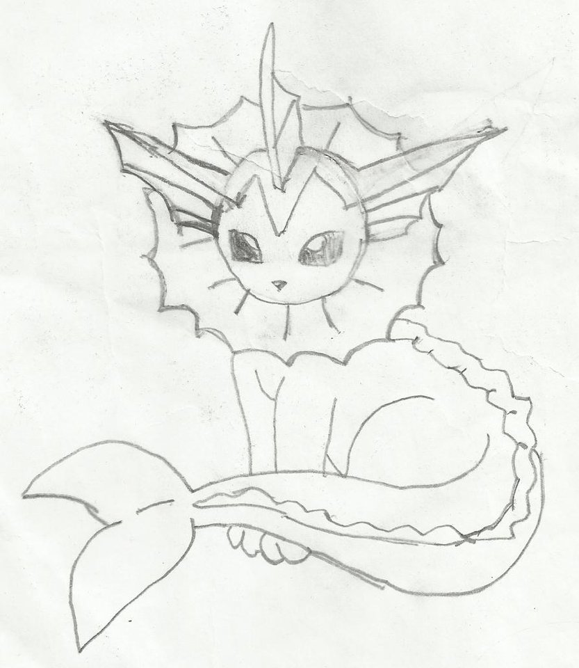 833x960 Pokemon Drawing Of Vaporeon By Thecupcaketurtle