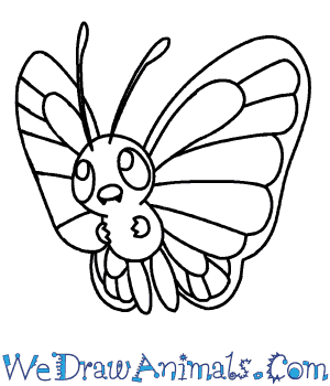 300x350 How To Draw Butterfree Pokemon