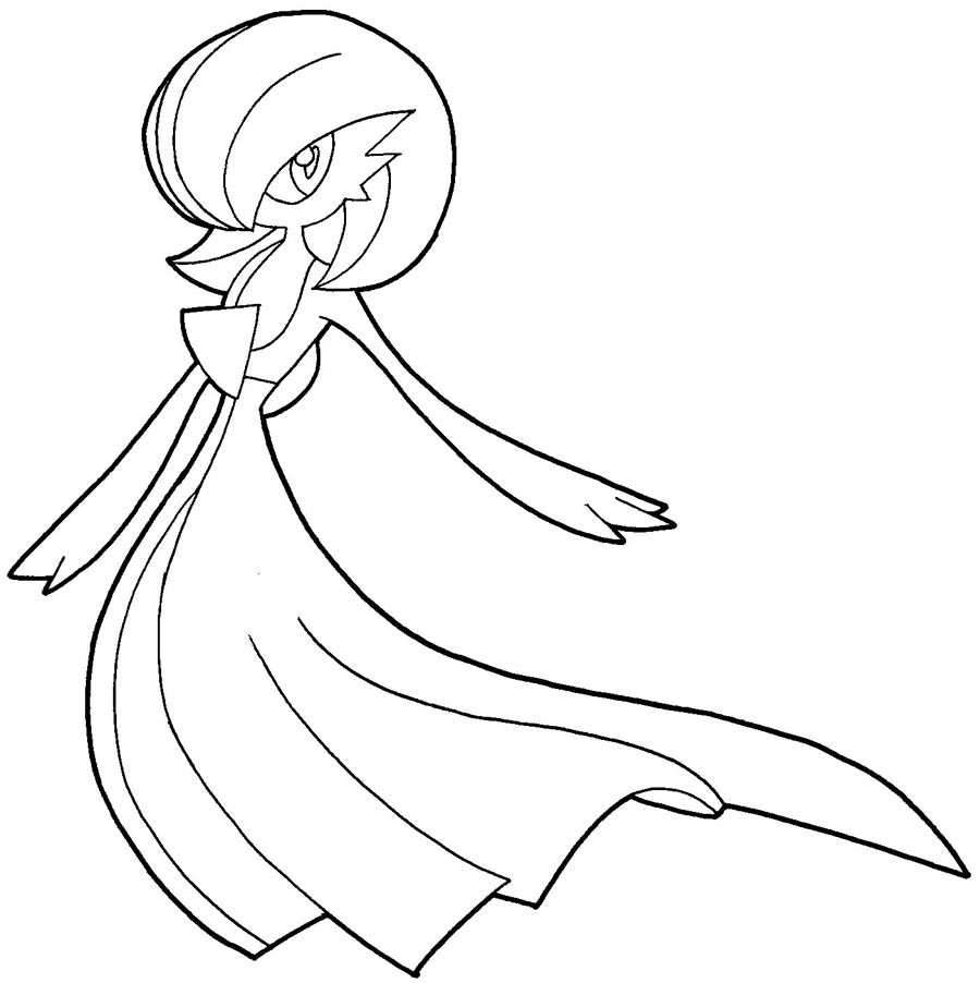 900x902 How To Draw Gardevoir From Pokemon With Easy Step By Step Drawing