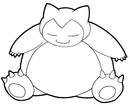 450x364 How To Draw Snorlax From Pokemon With Easy Step By Step Drawing