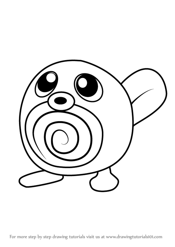 566x800 Learn How To Draw Poliwag From Pokemon Go (Pokemon Go) Step By