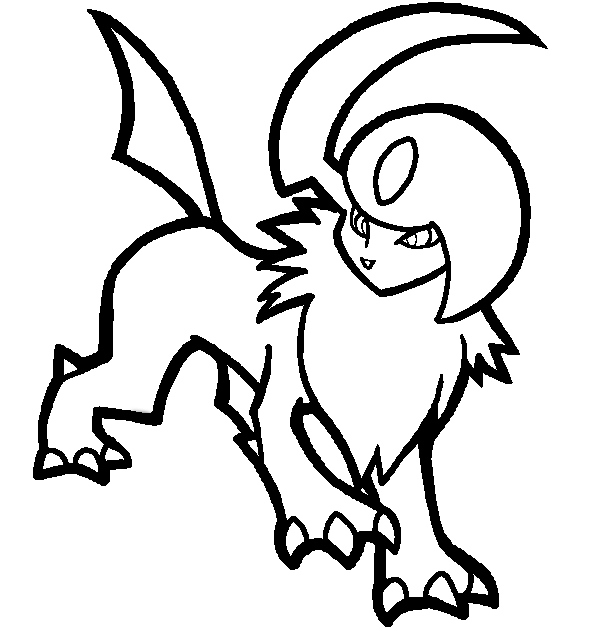 600x630 Pokemon Coloring Pages Absol For Cure Print Draw Printable