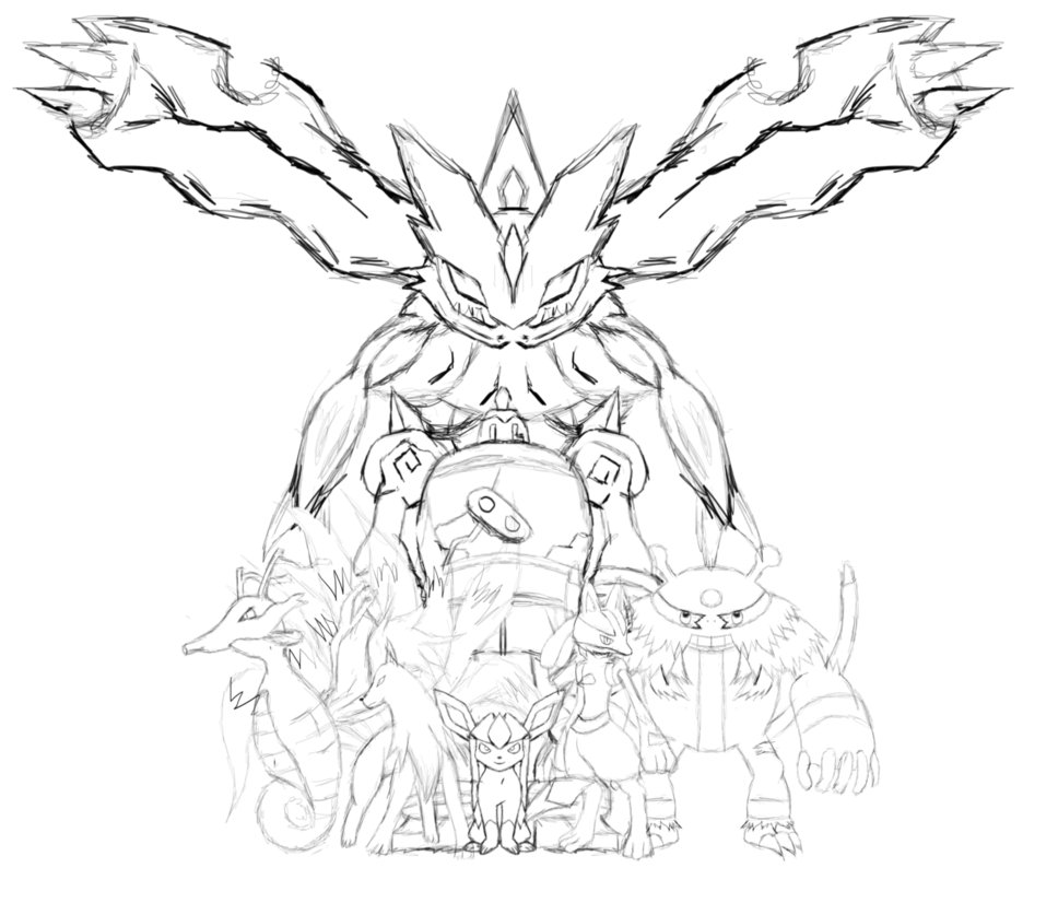 Pokemon Legendary Drawing At GetDrawings.com | Free For Personal Use .